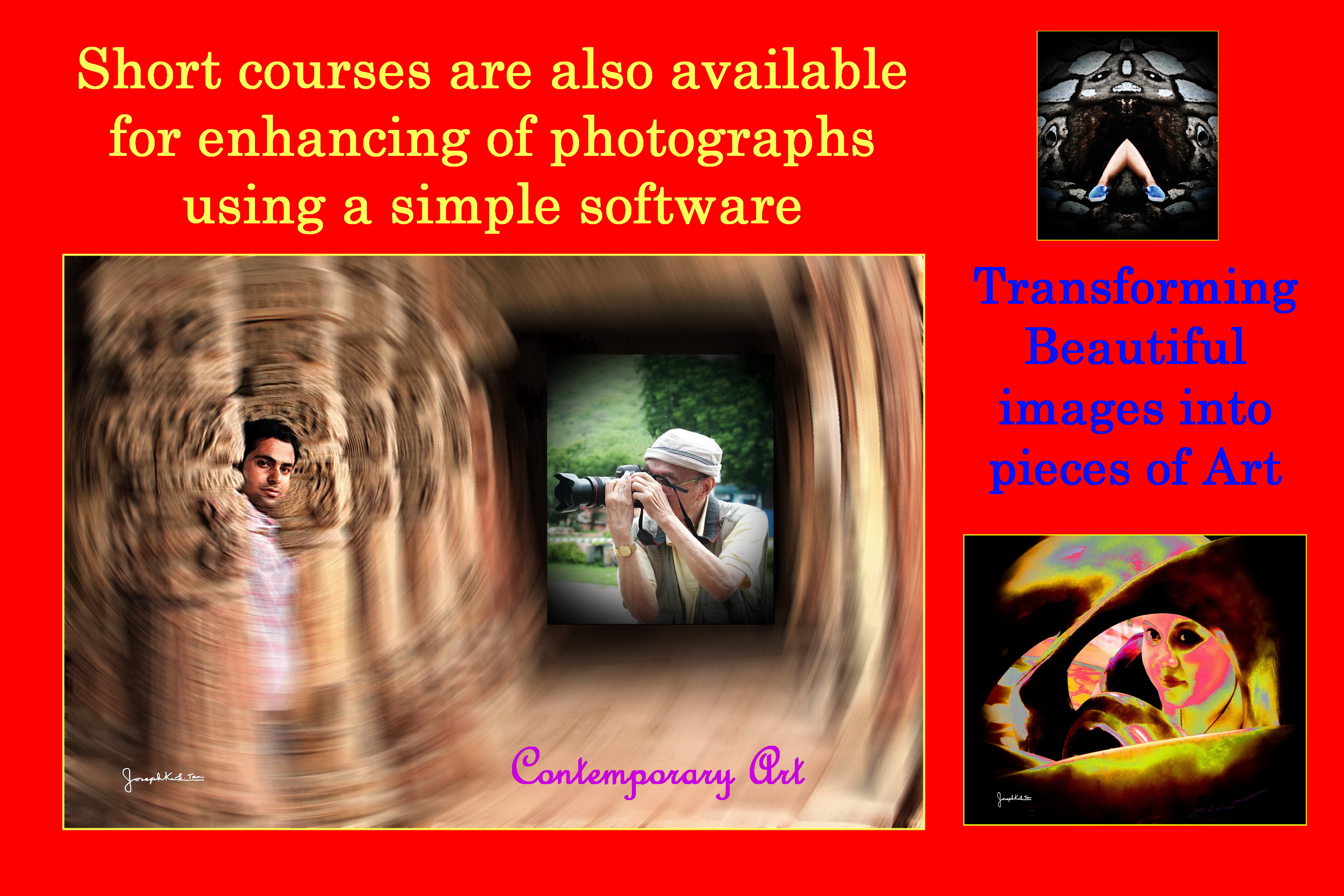 Short Courses for Enhancing photos for printing into booklet are available.
